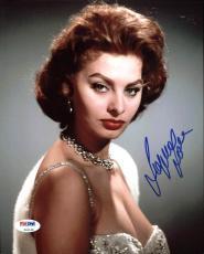 Sophia Loren Signed 8X10 Photo Autographed PSA/DNA #Z92185