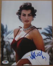 Sophia Loren signed 8x10 photo PSA/DNA autograph