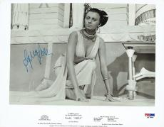 Sophia Loren Signed Aida Authentic Autographed 8x10 B/W Photo PSA/DNA #Q27804