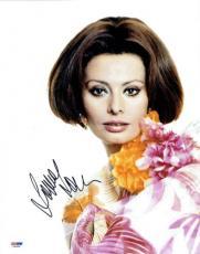 Sophia Loren Signed Authentic Autographed 11x14 Photo PSA/DNA #X31838