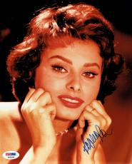 Sophia Loren Signed Authentic Autographed 8x10 Photo (PSA/DNA) #P49296