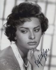 Sophia Loren Signed Autographed Hot Sexy Bw Photo Wow!!!