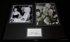 Sophia Loren Signed Framed 16x20 Photo Set w/ Jayne Mansfield