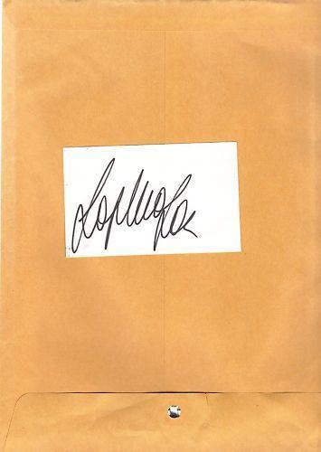 Sophia Loren-signed index card