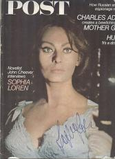 Sophia Loren Signed Magazine 1967 Sat. Evening Post JSA