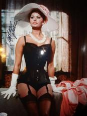 SOPHIA LOREN SIGNED OVERSIZED 11x14 COLOR PHOTO     SEXIEST POSE EVER       JSA