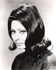 "SOPHIA LOREN - Started in the movies 1950's with ""HOUSEBOAT"" and ""IT STARTED in NAPLES"" Signed 8x10 B/W Photo"