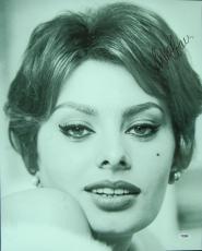 Sophia Loren Twice-Signed 16x20 Photo (PSA/DNA)