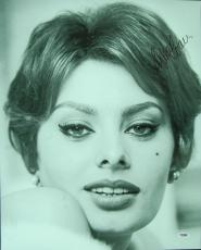 Sophia Loren Twice-Signed 16x20 Photo (PSA/DNA)