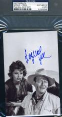Sophia Loren With John Wayne Hand Signed Psa/dna Coa Photo Authentic Autograph