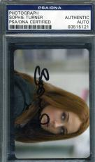 Sophie Turner Jsa Coa Hand Signed Game Of Thrones Photo Authentic Autograph