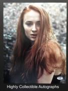 Sophie Turner Signed 11x14 Photo Autograph Psa Dna Coa Game Of Thrones Sansa