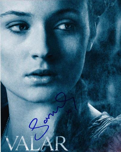 Sophie Turner Signed 8x10 Photo Authentic Auto Game Of Thrones Season 4 Promo