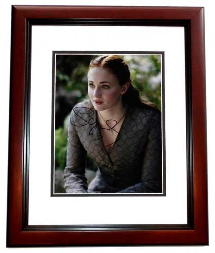 Sophie Turner Signed - Autographed Game of Thrones 8x10 inch Photo MAHOGANY CUSTOM FRAME - Guaranteed to pass PSA or JSA - Sansa Stark