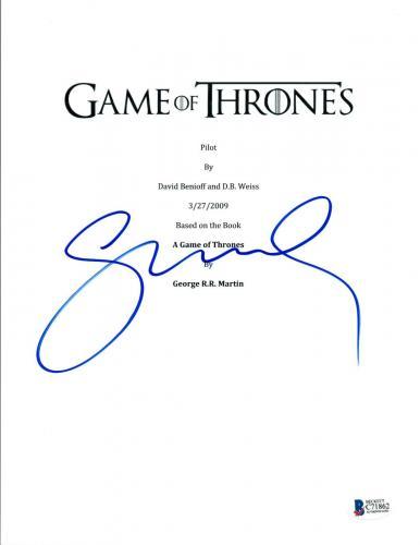 Sophie Turner Signed Autographed GAME OF THRONES Pilot Script BAS COA