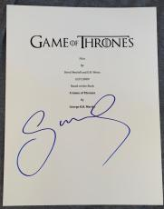Sophie Turner Signed Autographed Game of Thrones Pilot Script Screenplay COA