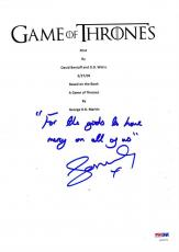 Sophie Turner Signed Game Of Thrones Script Pilot 61 Page Authentic Autograph