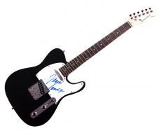 Sopranos James Gandolfini Signed Tele Guitar Uacc Rd Coa