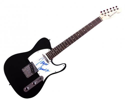 Sopranos James Gandolfini Signed Tele Guitar Uacc Rd Coa AFTAL