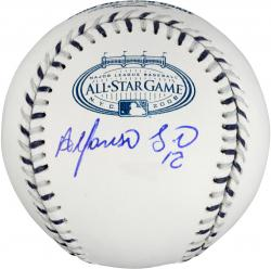 Alfonso Soriano Chicago Cubs Autographed 2008 Yankees Stadium All Star Baseball - Mounted Memories