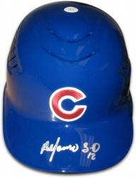 Alfonso Soriano Chicago Cubs Autographed Full Size Authentic Batting Helmet - Mounted Memories