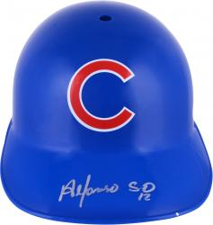 Alfonso Soriano Chicago Cubs Autographed Full Size Replica Batting Helmet - Mounted Memories