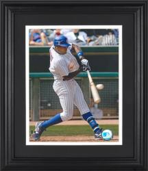 "Alfonso Soriano Chicago Cubs Framed Unsigned 8"" x 10"" Hitting Ball Photograph - Mounted Memories"