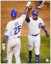 "Alfonso Soriano & Derrek Lee Chicago Cubs Autographed 16"" x 20"" HR Celebration Photograph - Mounted Memories"