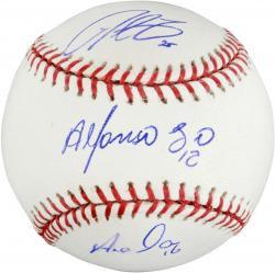 Alfonso Soriano, Derrek Lee and Aramis Ramirez Chicago Cubs Autographed Baseball