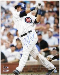 "Geovany Soto Chicago Cubs Autographed 16"" x 20"" Batting Photograph"