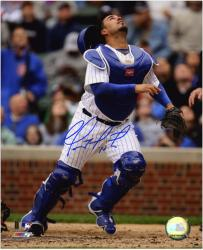 "Geovany Soto Chicago Cubs Autographed 8"" x 10"" Catching Photograph"