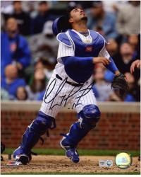 """Geovany Soto Chicago Cubs Autographed 8"""" x 10"""" Looking Up Photograph"""
