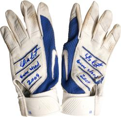 Geovany Soto Chicago Cubs Autographed Game-Used Nike Batting Glove with Game Used 2009 Inscription - Mounted Memories