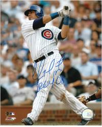 """Geovany Soto Chicago Cubs Autographed 8"""" x 10"""" Photograph with ROY 08 Inscription"""