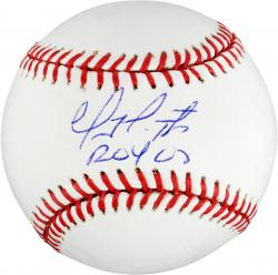Geovany Soto Autographed Baseball with ROY 08 Inscription -