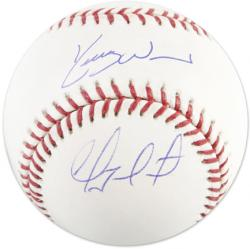 Geovany Soto & Kerry Wood Autographed Baseball - Mounted Memories