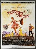 SOUND OF MUSIC Cast Signed 27x40 Movie Poster (7) Autographs w/ Beckett BAS COA
