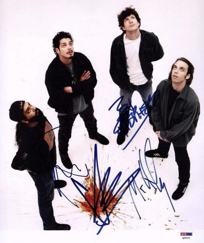 SOUNDGARDEN Chris Cornell +3 Signed Autographed 11x14 Photo PSA/DNA #Q06571