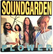 Soundgarden Chris Cornell group signed flower album ep autographed beckett loa