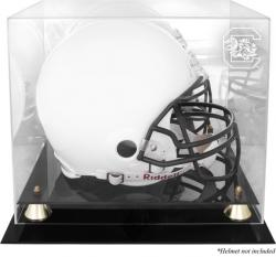 South Carolina Gamecocks Golden Classic Logo Helmet Display Case with Mirrored Back