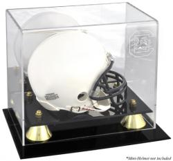 South Carolina Gamecocks Golden Classic Logo Mini Helmet Display Case