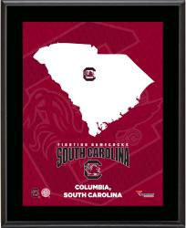 SOUTH CAROLINA GAMECOCKS (STATE) 10x13 PLAQUE (SUBL) - Mounted Memories