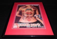 South Park 2002 Comedy Central Framed 11x14 ORIGINAL Vintage Advertisement