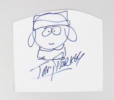 South Park – Trey Parker Signed & Hand Drawn Sketch of Kyle (JSA)