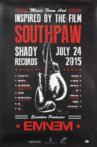 Southpaw Eminem Signed 24x36 Movie Poster BAS #A88709