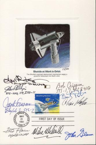 SPACE 6x9 HAND SIGNED FDC PROOF CARD+COA   9 SIGNED    VERY RARE    JOHN GLENN