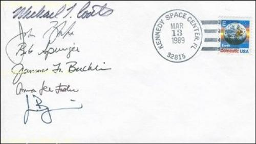 Space Shuttle Discovery - Sts - 29 Crew - Commemorative Envelope Signed