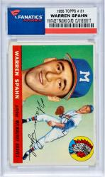 Warren Spahn Vintage Baseball Card - 1955 TOPPS # 31