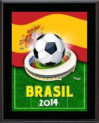 """Spain 2014 Brazil Sublimated 10.5"""" x 13"""" Plaque"""