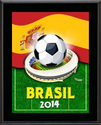 "Spain 2014 Brazil Sublimated 10.5"" x 13"" Plaque"